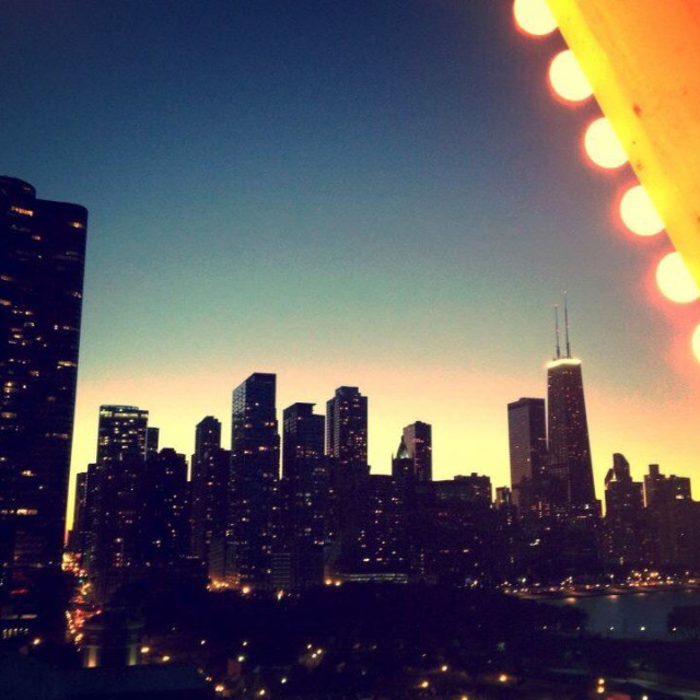 """""""View from the Ferris Wheel"""" stock image"""