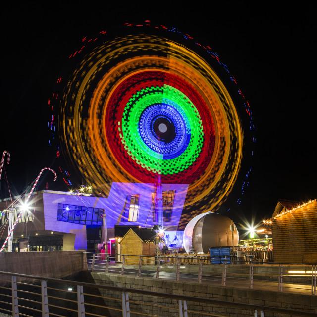 """Liverpool Pier Head Ice Festival"" stock image"