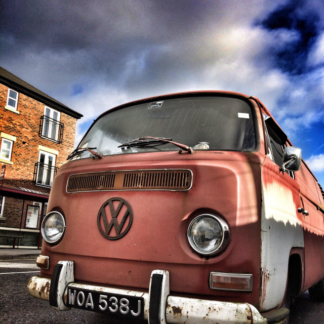 """""""Rusty VW camper van"""" stock image"""