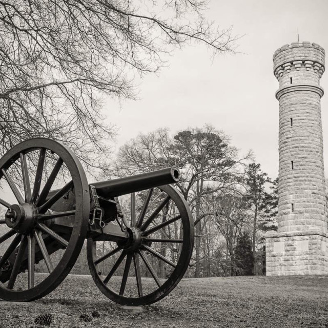 """Wilder Tower at Chicamauga National Battlefield, Georgia, USA."" stock image"