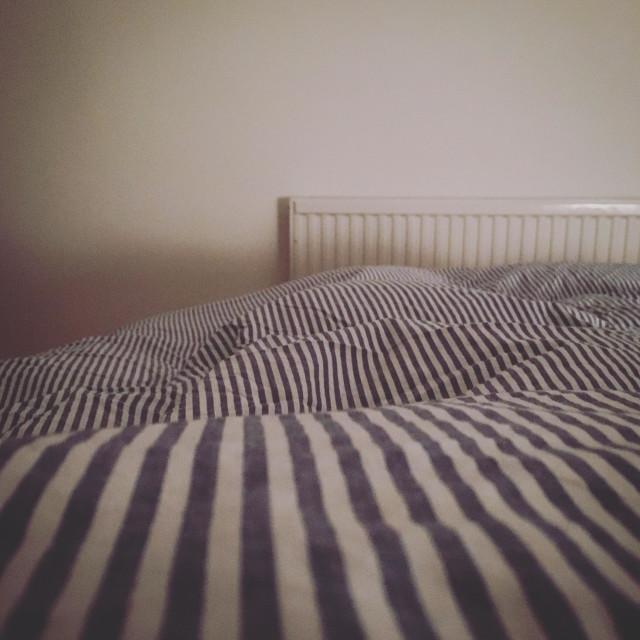 """Striped bedding"" stock image"