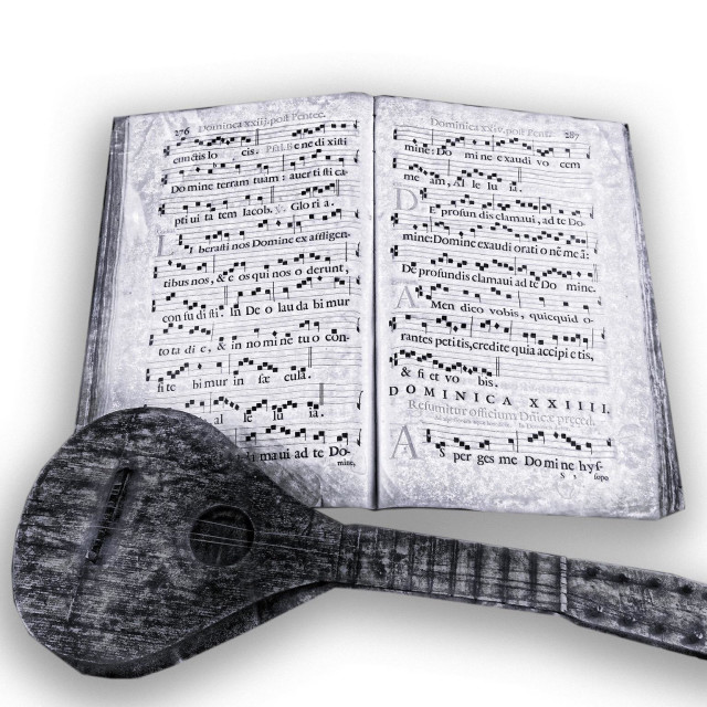 """""""Lute with music manuscript"""" stock image"""