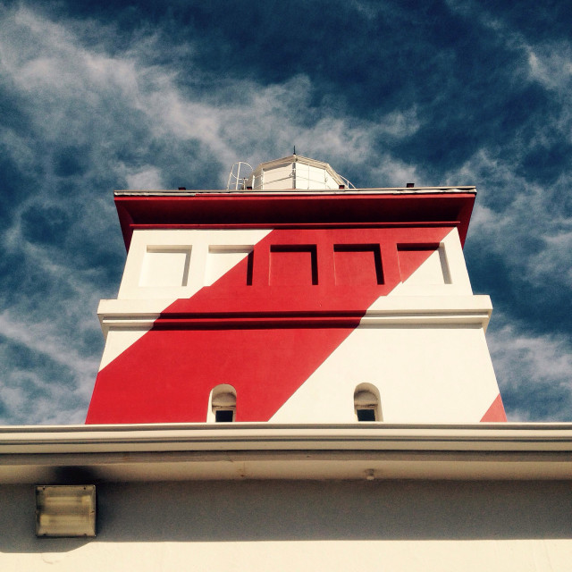 """Mouille Point Lighthouse, Cape Town."" stock image"