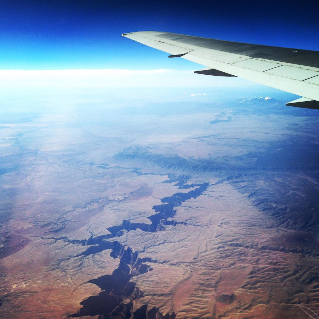 """""""Grand Canyon from the Mile High Club"""" stock image"""