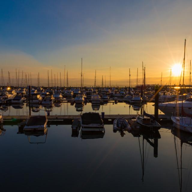 """Torquay harbour"" stock image"