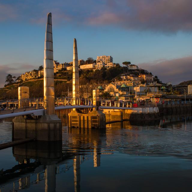 """""""Torquay Harbour Bridge"""" stock image"""