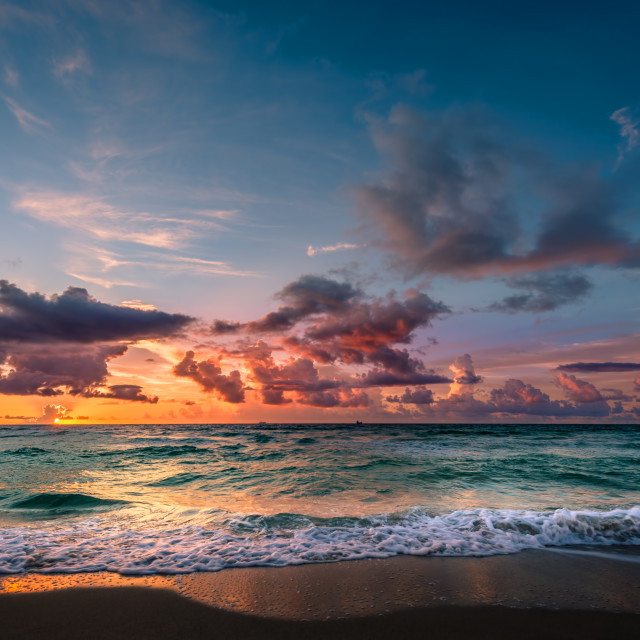 """Miami sunrise"" stock image"