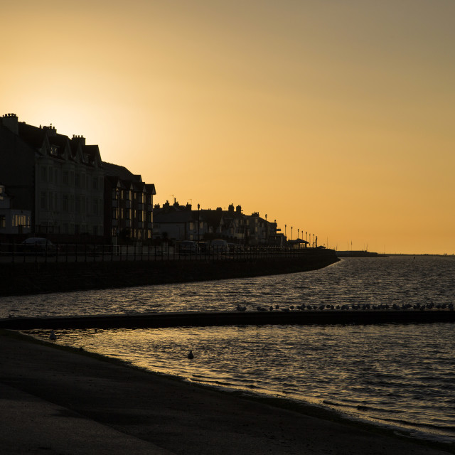 """West Kirby Golden Sunrise"" stock image"