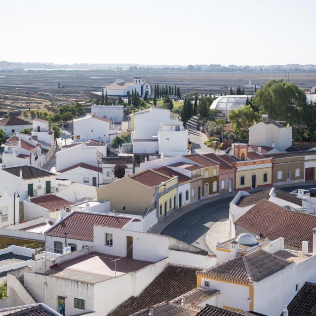 """EUROPE PORTUGAL ALGARVE CASTRO MARIM TOWN"" stock image"