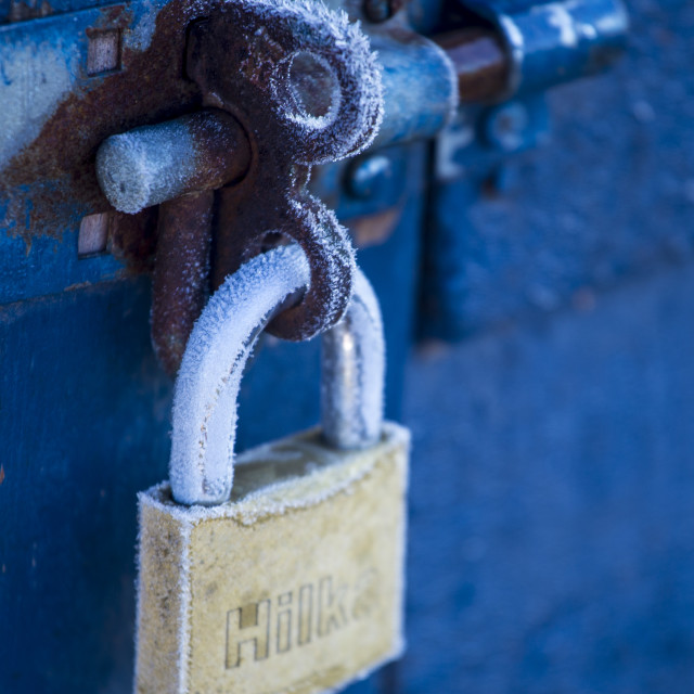 """Frosted Padlock"" stock image"