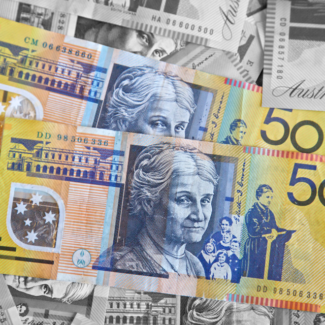 """Australian dollars"" stock image"