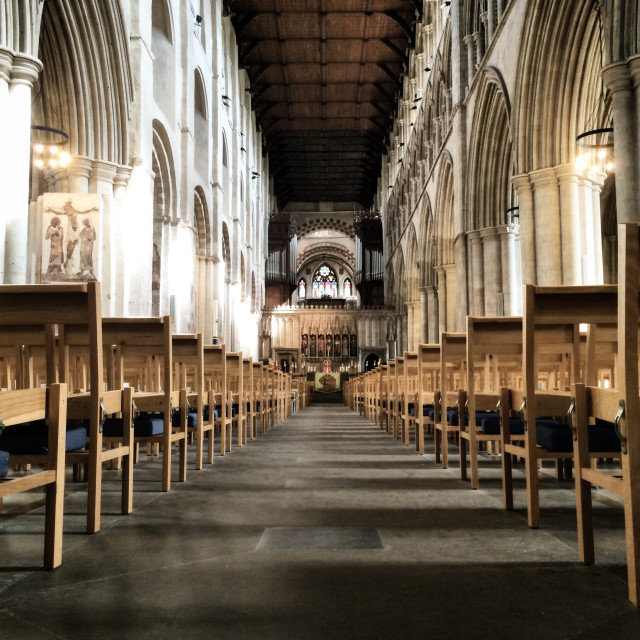 """""""St Albans Cathedral."""" stock image"""