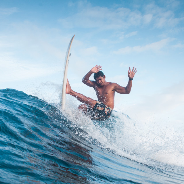 """""""Surfer Surfing"""" stock image"""