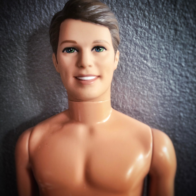 """Bare chested Ken doll"" stock image"