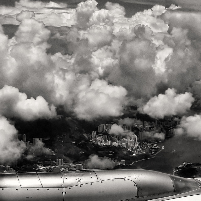 """Hong Kong Aerial View"" stock image"