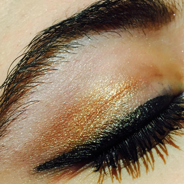 """""""Eye made up with black and gold eye shadow"""" stock image"""