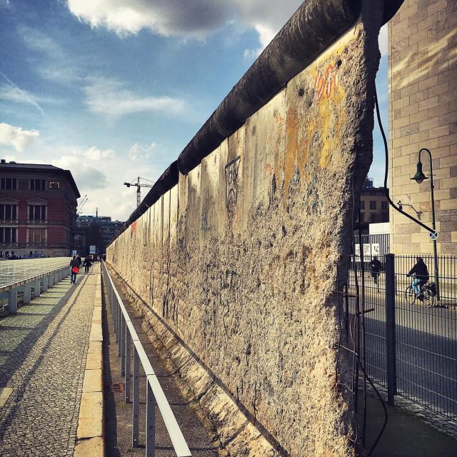 """Divide at the Berlin Wall"" stock image"