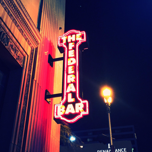 """""""The Federal Bar"""" stock image"""