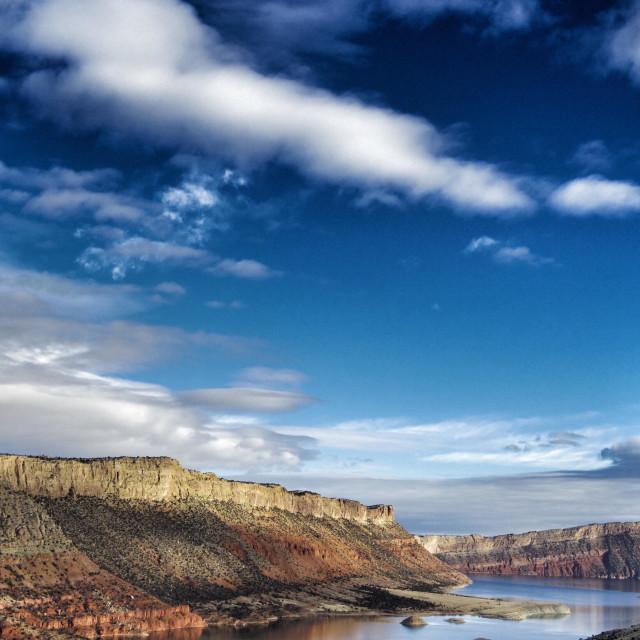 """Flaming Gorge Recreation Area, Wyoming."" stock image"