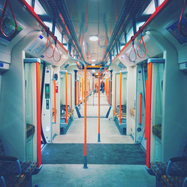"""""""Inside of a London Overground carriage"""" stock image"""