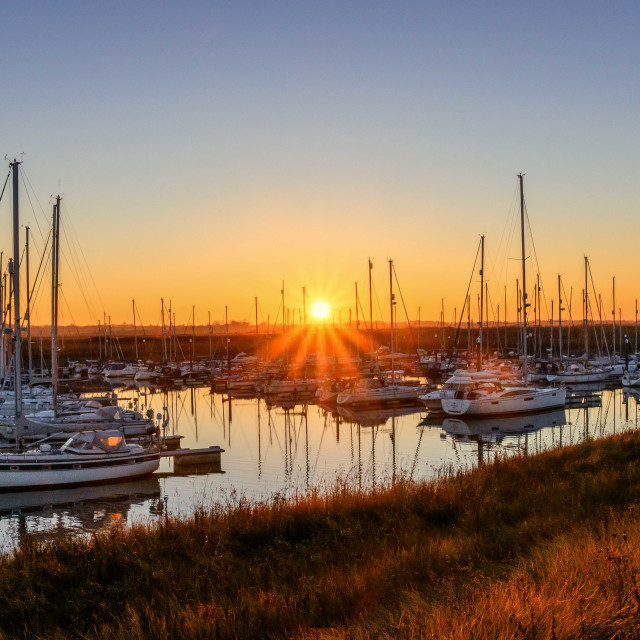 """Nautical Essex Sunset"" stock image"
