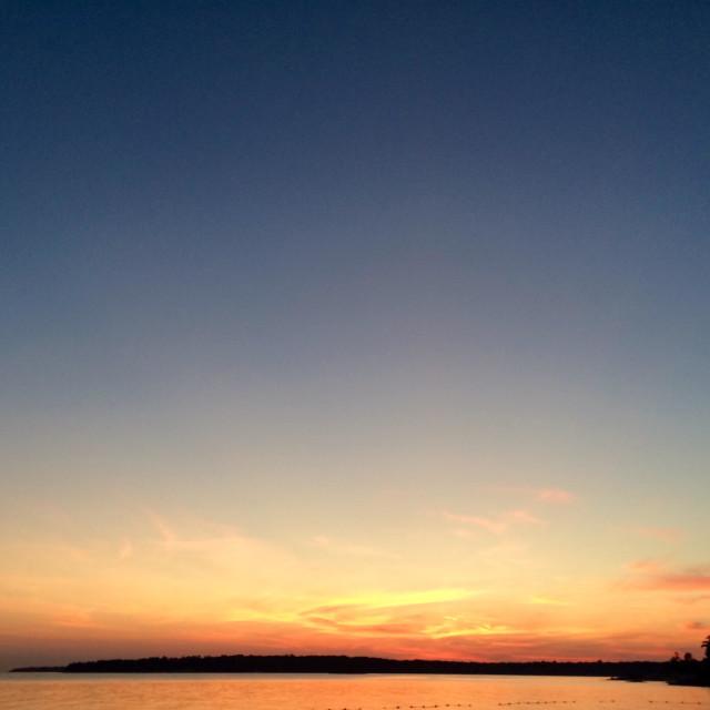 """Sunset on GEORGIAN Bay, Ontario."" stock image"