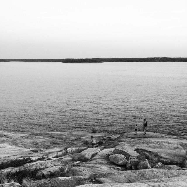 """Hiking in the summer on Georgian Bay"" stock image"