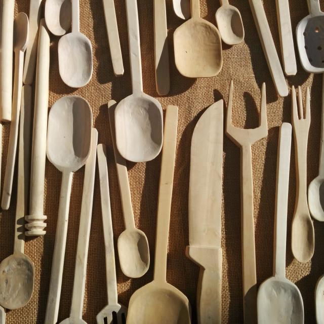 """Wood utensils."" stock image"