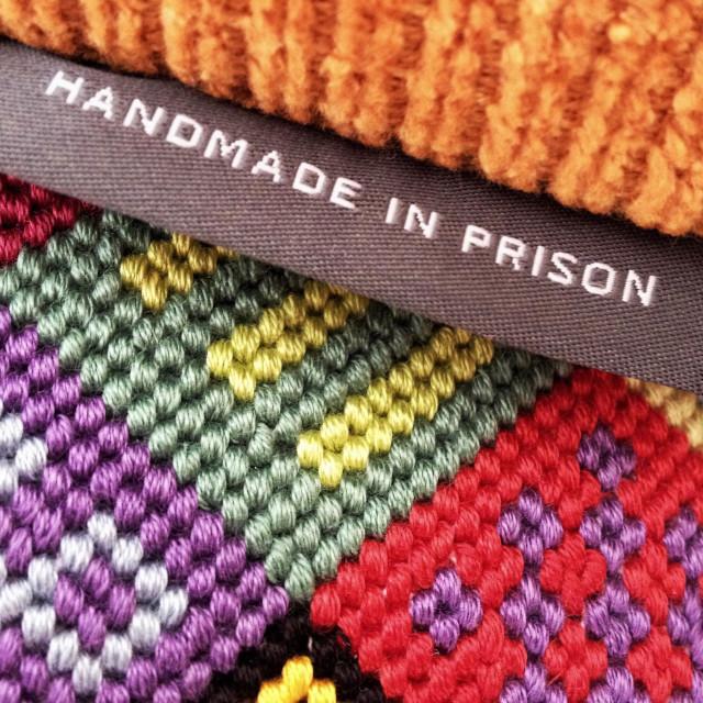 """Handmade in prison"" stock image"
