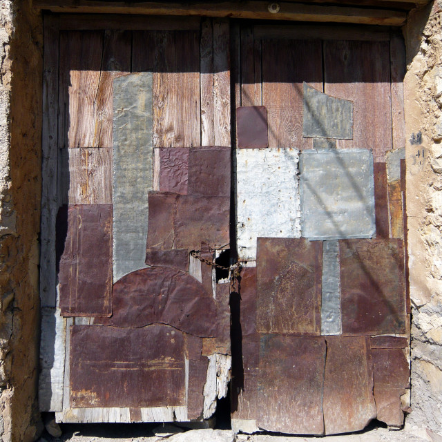 """Old door, Spain"" stock image"