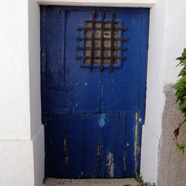 """Old door, Spain 2"" stock image"