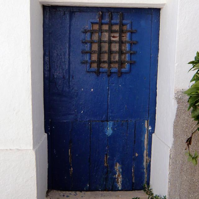 """""""Old door, Spain 2"""" stock image"""