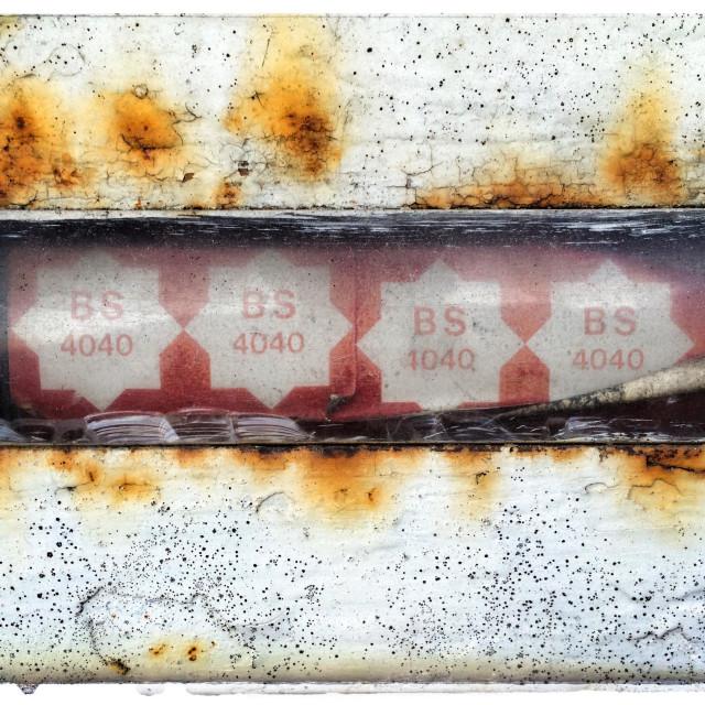 """Four star petroleum pump"" stock image"