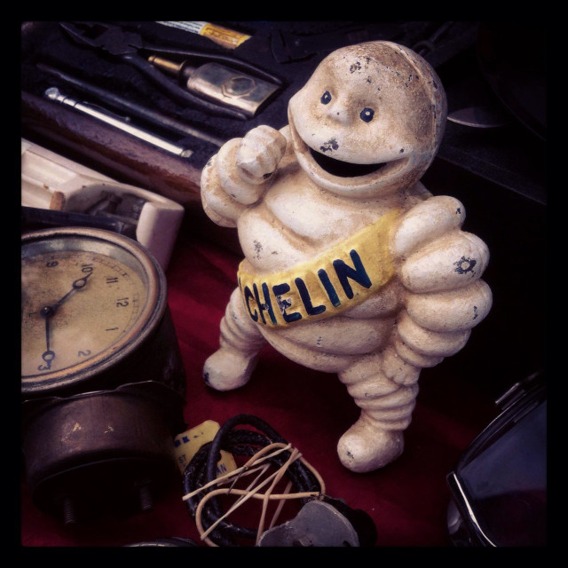 """Mr Bibendum at Beaulieu Autojumble"" stock image"