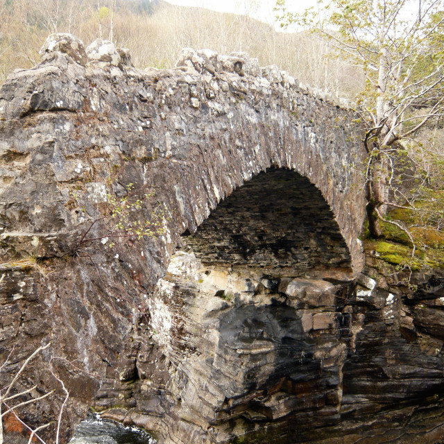 """Old stone bridge, Loch Ness 2"" stock image"