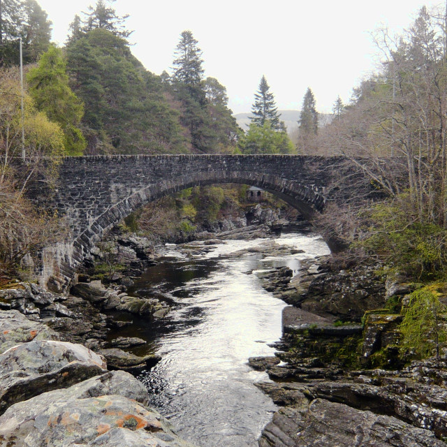 """Old stone bridge, Loch Ness 3"" stock image"