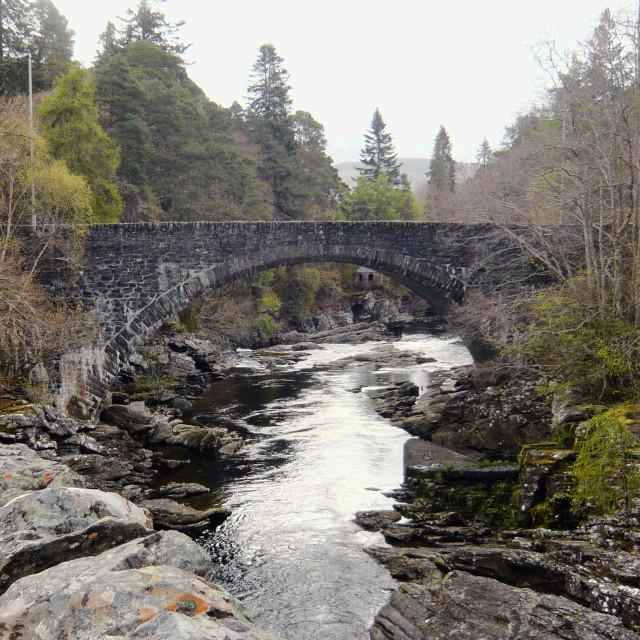 """Old stone bridge, Loch Ness 3"" stock image"