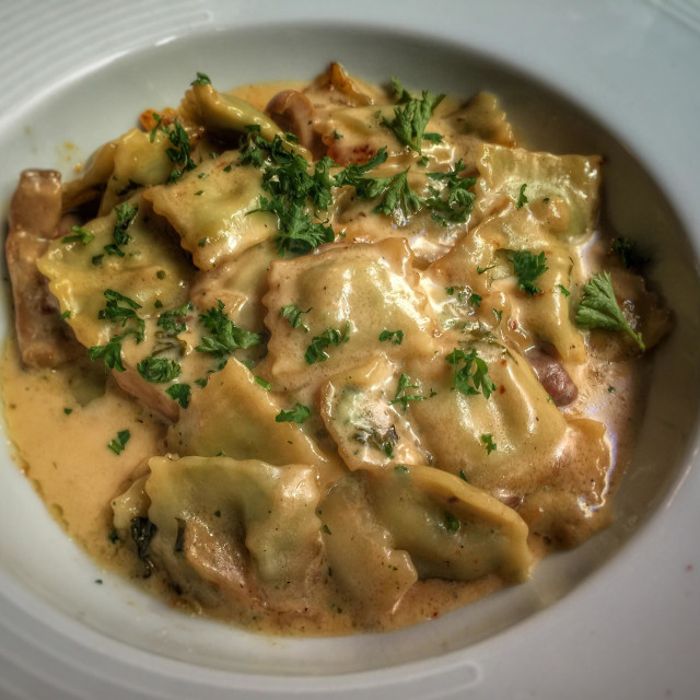 """Ravioli cooked plate"" stock image"
