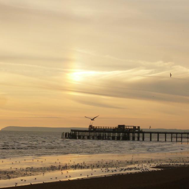 """Hastings pier, Sussex 1"" stock image"