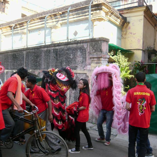 """""""Chinese New Year, Calcutta 1"""" stock image"""