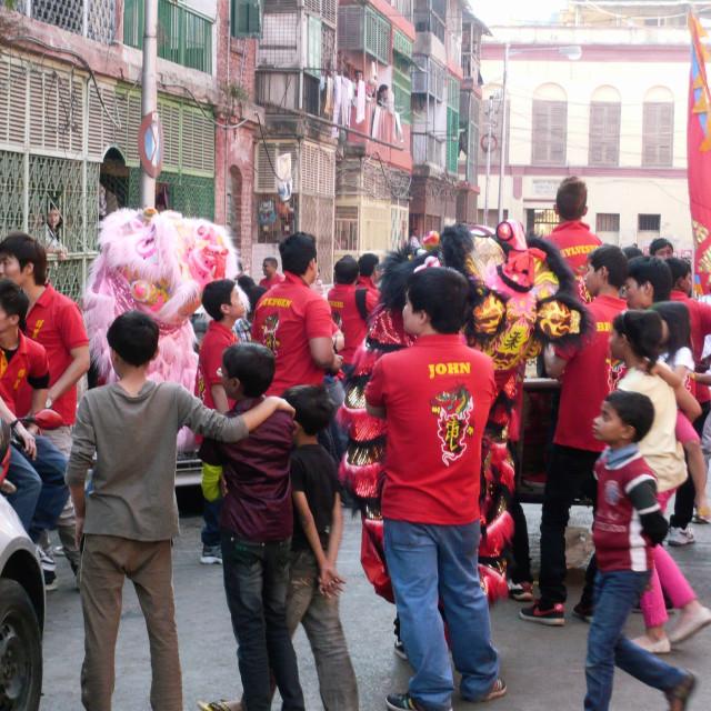 """""""Chinese New Year, Calcutta 3"""" stock image"""
