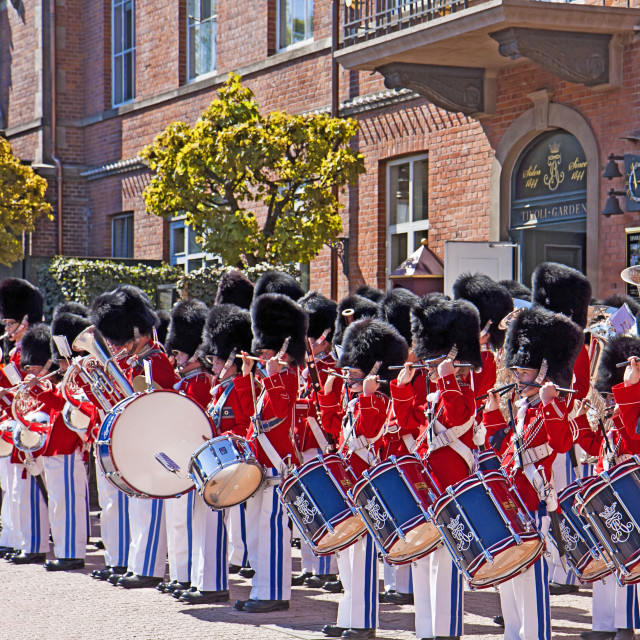 """Copenhagen, Denmark - The Tivoli youth guard band at Tivoli Gardens"" stock image"