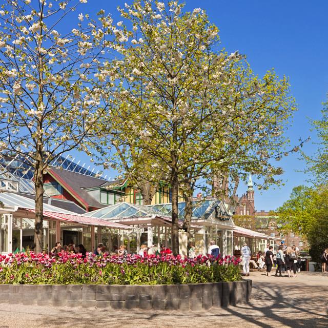 """Copenhagen, Denmark - Tivoli Gardens : pavilions in spring"" stock image"