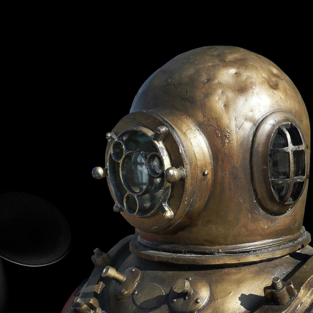 """""""Diving bell in space"""" stock image"""