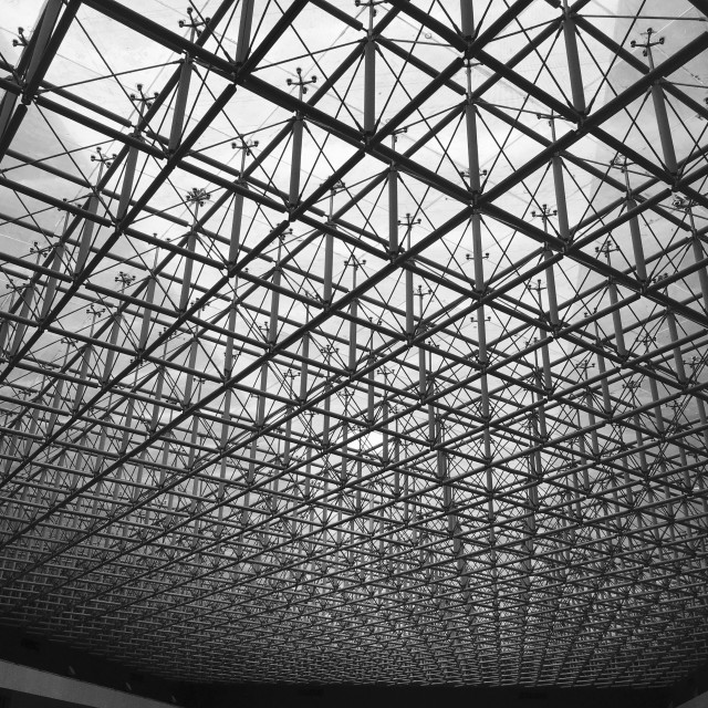 """""""Glass Ceiling at Shenzhen Museum - China"""" stock image"""