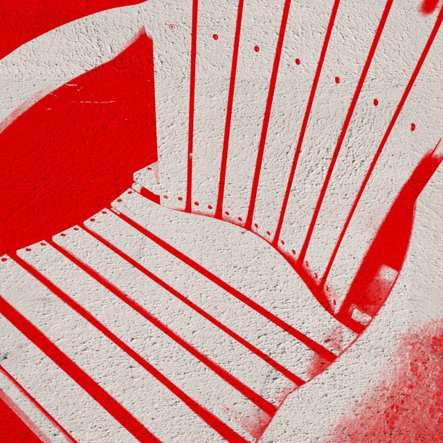 """Adirondack beach chair, close up"" stock image"