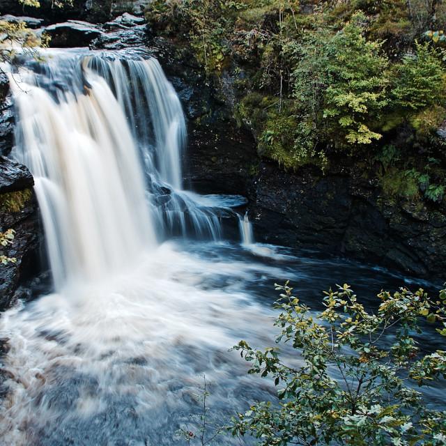 """Falls of Falloch"" stock image"