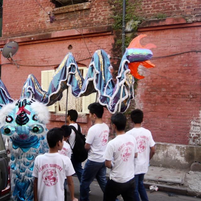 """""""Chinese New Year, Calcutta 4"""" stock image"""