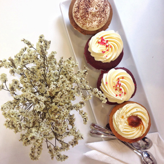 """""""Cupcakes for tea time"""" stock image"""