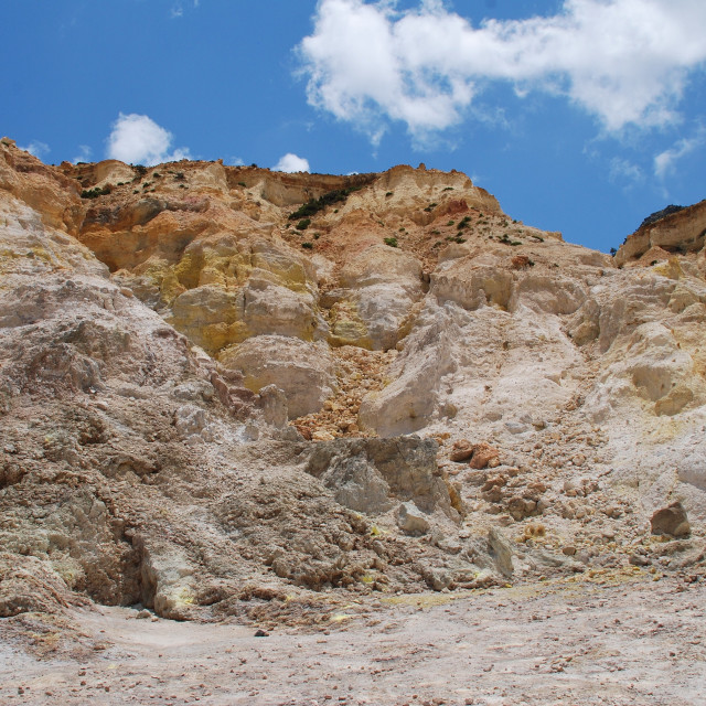 """""""Stefanos volcano crater, Nisyros"""" stock image"""